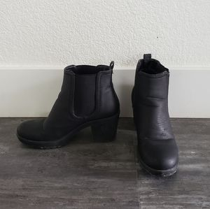 Black Matte Leather Krush Bootie